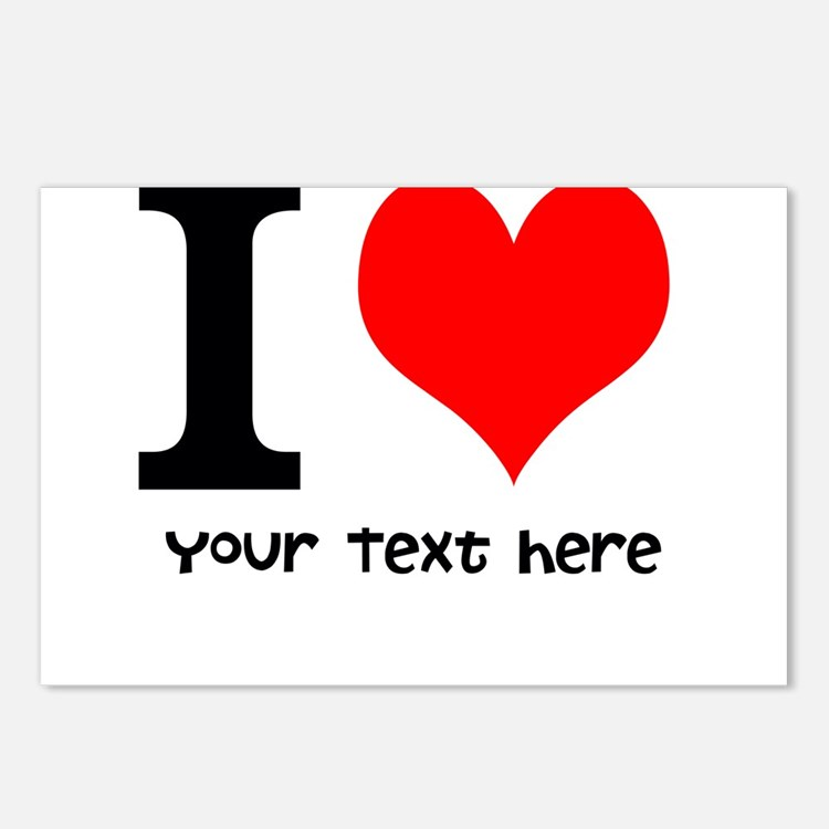 I Heart (Personalized Text) Postcards (Package of
