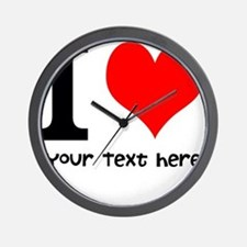 I Heart (Personalized Text) Wall Clock