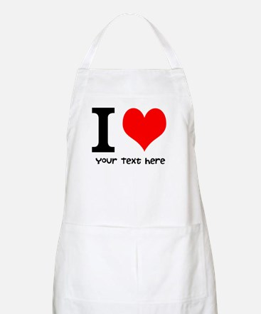 I Heart (Personalized Text) Apron