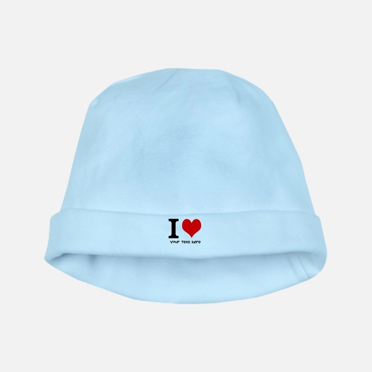 I Heart (Personalized Text) baby hat