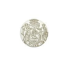 Maine State Seal Mini Button