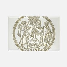 Maine State Seal Rectangle Magnet