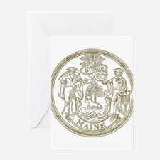 Maine State Seal Greeting Card