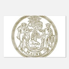 Maine State Seal Postcards (Package of 8)