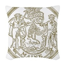 Maine State Seal Woven Throw Pillow
