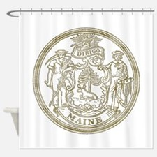 Maine State Seal Shower Curtain