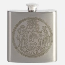 Maine State Seal Flask