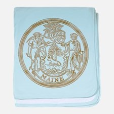 Maine State Seal baby blanket