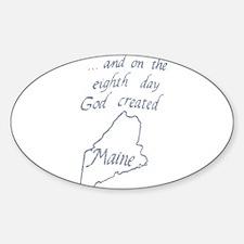 God Created Maine Decal