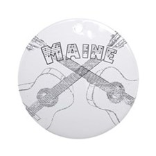 Maine Guitars Ornament (Round)
