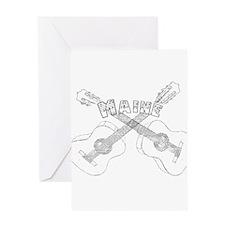 Maine Guitars Greeting Card