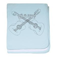 Maine Guitars baby blanket