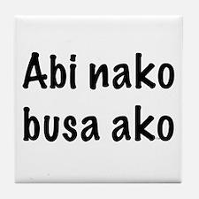 Abi Nako Busa Ako Tile Coaster