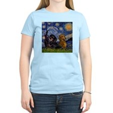 Starry Night Doxie Pair T-Shirt
