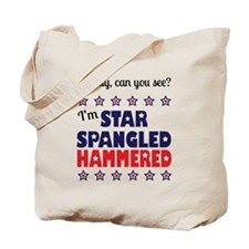 I'm Star Spangled Hammered Tote Bag