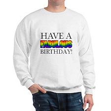 Fabulous Gay Pride Birthday Sweater