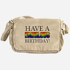 Fabulous Gay Pride Birthday Messenger Bag