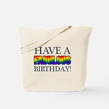 Fabulous Gay Pride Birthday Tote Bag