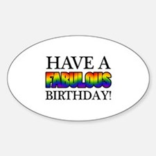 Fabulous Gay Pride Birthday Decal