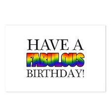 Fabulous Gay Pride Birthday Postcards (Package of