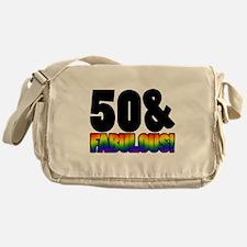 Fabulous Gay 50th Birthday Messenger Bag
