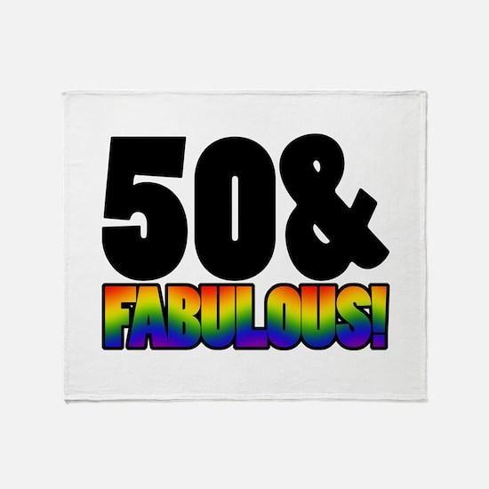 Fabulous Gay 50th Birthday Throw Blanket