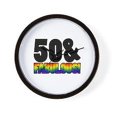 Fabulous Gay 50th Birthday Wall Clock