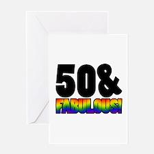 Fabulous Gay 50th Birthday Greeting Card