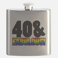 Fabulous Gay 40th Birthday Flask