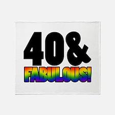 Fabulous Gay 40th Birthday Throw Blanket