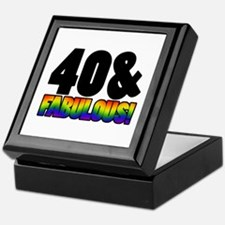 Fabulous Gay 40th Birthday Keepsake Box