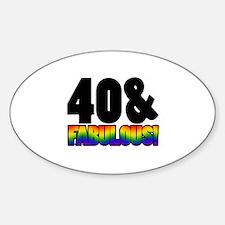 Fabulous Gay 40th Birthday Decal