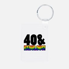 Fabulous Gay 40th Birthday Keychains