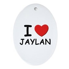 I love Jaylan Oval Ornament