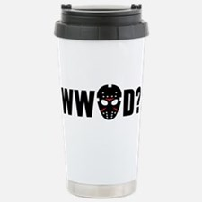 What would Jason Voorhees do? Travel Mug