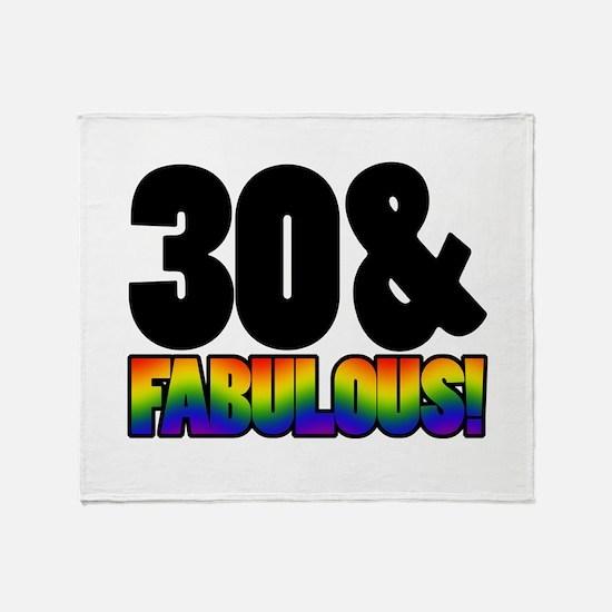 Fabulous Gay 30th Birthday Throw Blanket