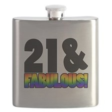 Fabulous Gay 21st Birthday Flask