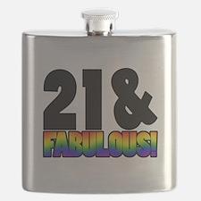 Fabulous Gay 21st Birthday Flask