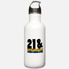 Fabulous Gay 21st Birthday Water Bottle