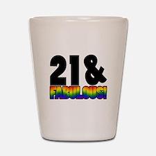 Fabulous Gay 21st Birthday Shot Glass