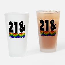 Fabulous Gay 21st Birthday Drinking Glass