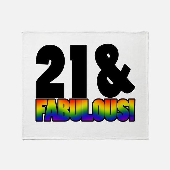Fabulous Gay 21st Birthday Throw Blanket