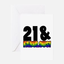 Fabulous Gay 21st Birthday Greeting Card