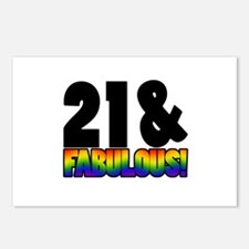 Fabulous Gay 21st Birthday Postcards (Package of 8