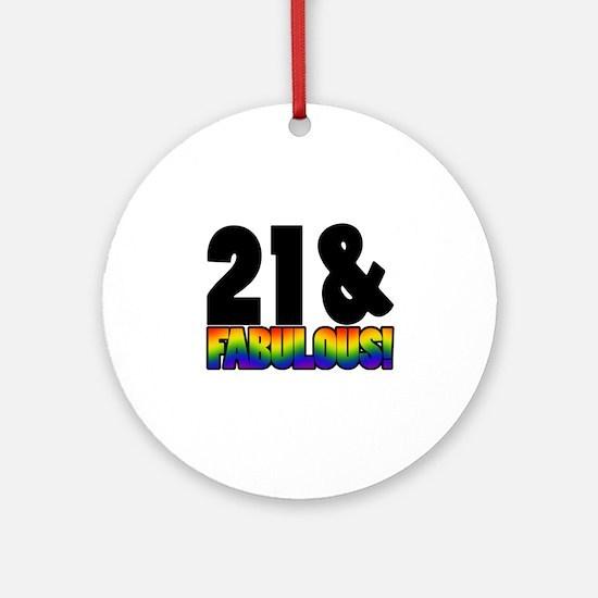 Fabulous Gay 21st Birthday Ornament (Round)