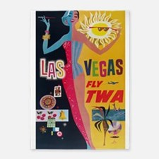 Las Vegas, Travel, Vintage Poster 5'x7'Area Rug