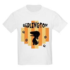 Bedlington Terrier Stripe Kids T-Shirt