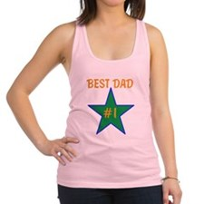OYOOS #1 Best Dad design Racerback Tank Top