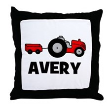 Tractor Avery Throw Pillow