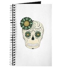 Green Flower Skull Journal